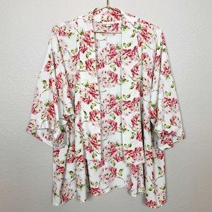 Anthropologie Pleione Floral Kimono